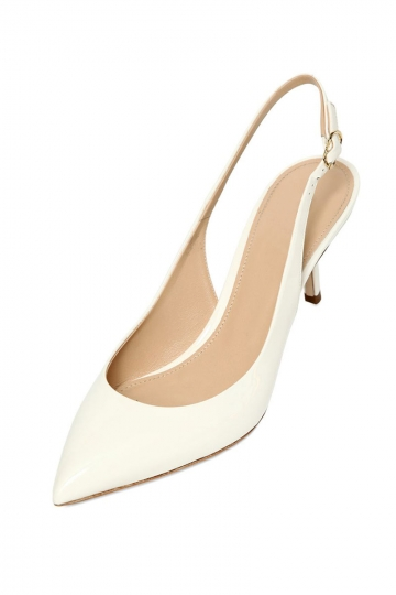 Elegant Creme sling back for homecoming occasion