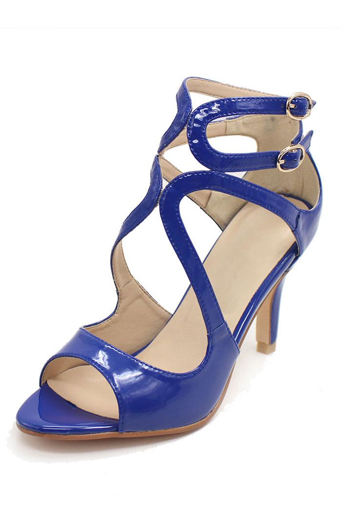 Blau leder  vintage pumps