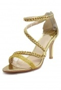 Luxus Gold Band Sandalen