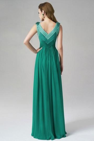 Modern Grün A-Linie lang Empire Abendkleider aus Chiffon ...