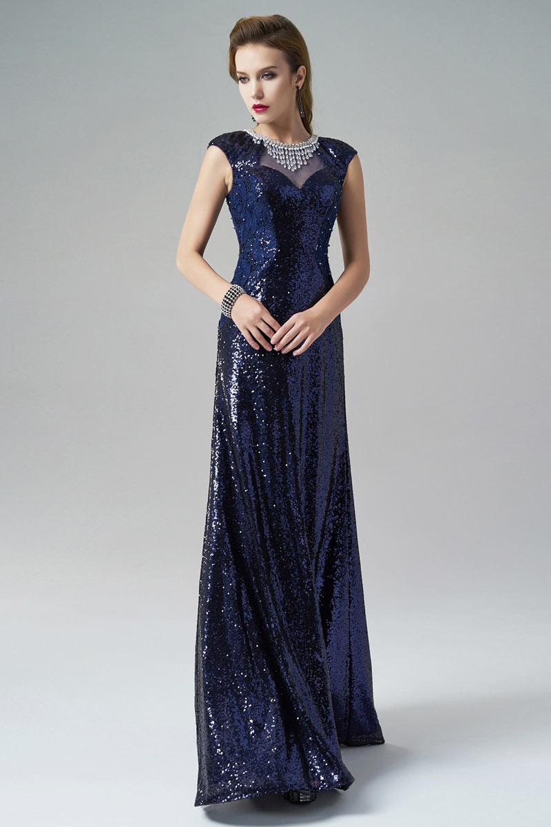 luxus blau a linie cap rmel abendkleider aus sequins xhs80276 628 08. Black Bedroom Furniture Sets. Home Design Ideas