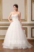 Schlicht Tüll Herz-Ausschnitt Ärmellos Brautkleider im Prinzessin Stil