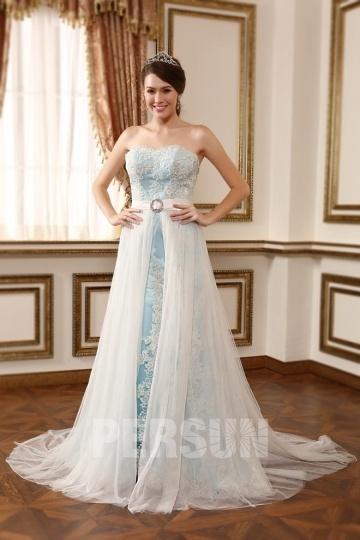 Startseite Brautkleider Farbige Brautkleider Chic Blau A-Linie ...