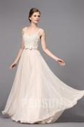 Elegant ärmellos A-Linie Chiffon Abendkleider mit Träger