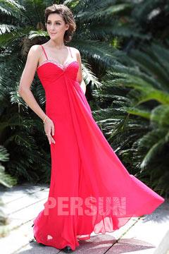 Persun Chic Sheath Ruching Chiffon Formal Evening Dress