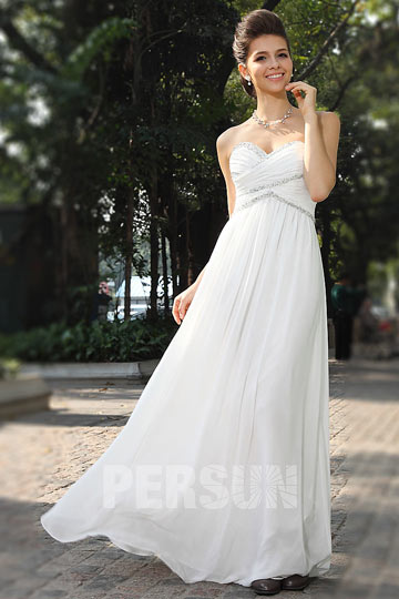 Dressesmall Persun Sweetheart Ruhcing Chiffon Formal Evening Dress