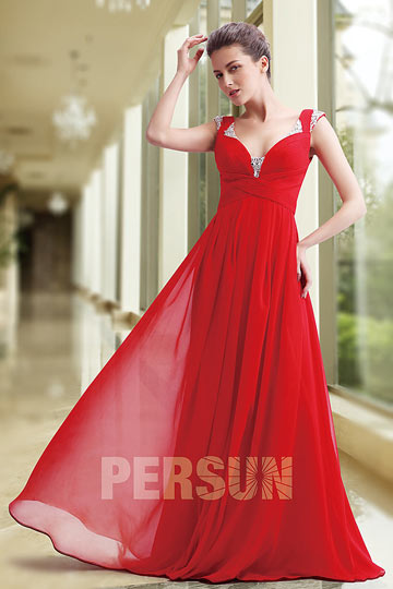 Dressesmall Persun Modern Long Empire Formal Evening Dress with Straps