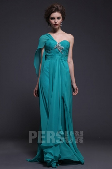 Dressesmall Persun Chic Long one Shoulder Formal Evening Dress