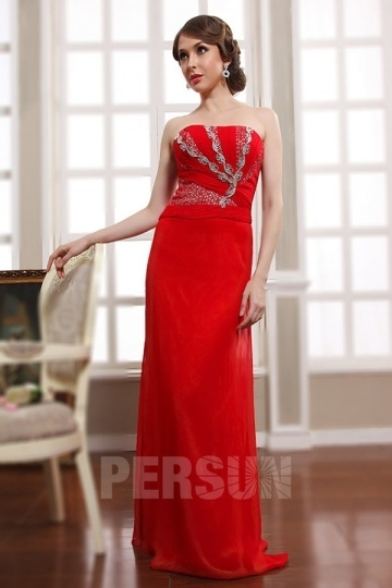 Dressesmall Persun Chic Long Ruching Chiffon Formal Evening Dress