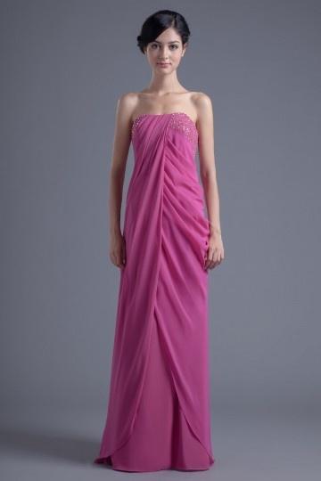 Rosa Vestido de madrinha Vestido longo decorado pailotes