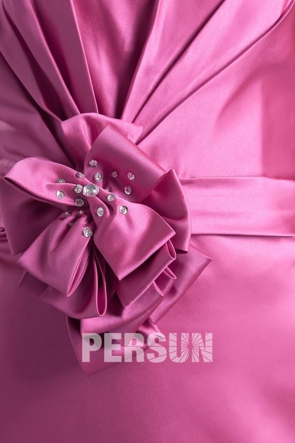 Robe demoiselle d'honneur bustier courte ornée de fleur fait-main