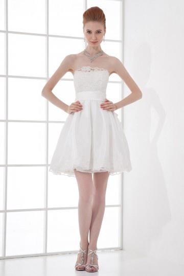 Elegantes Trägerloses A-Linie Empire Brautkleider aus Taft Persun