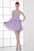 Exquisite A line Sweetheart Empire Waist Beading Chiffon Short Cocktail Dress