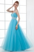 Gorgeous A line Empire Waist Beaded Gauze School Formal Dress