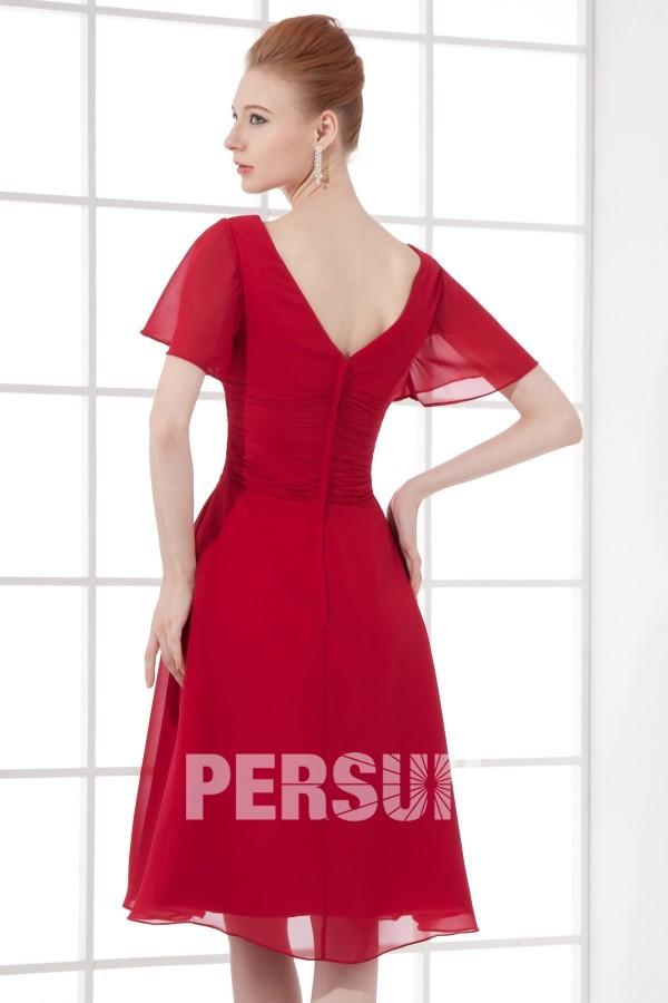 empire robe rouge robe cocktail de mariage robe mi longue