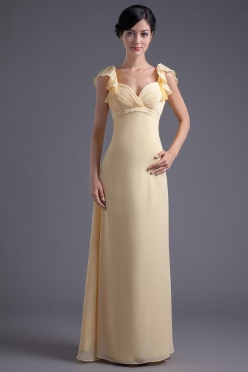 Dressesmall V neck Pleats A line Marvellous Chiffon Formal Bridesmaid Dress