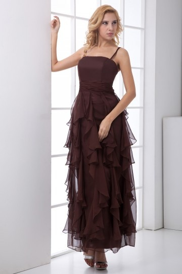 robe de soir e pour personnes g es volants empire. Black Bedroom Furniture Sets. Home Design Ideas