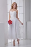 Spaghetti Straps Sweetheart Ankle Length Bridesmaid Dress
