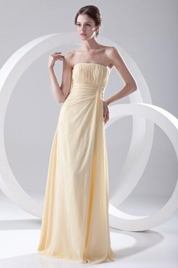 Vestido de madrinha amarelo bustiê simple Império