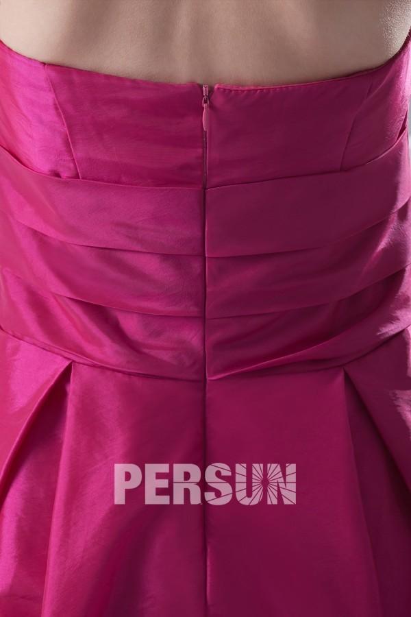 Robe bustier taille empire longue sol pour demoiselle d'honneur