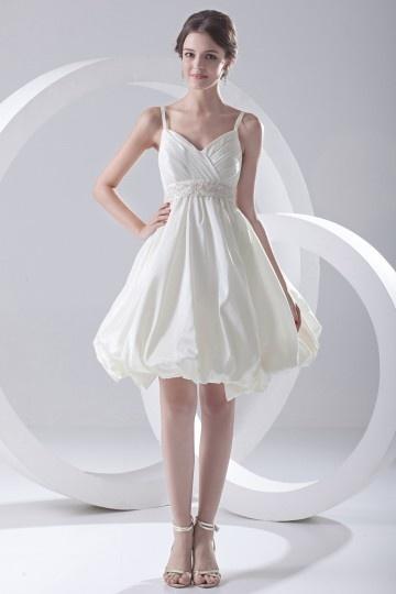 Vestido De Noiva Curto Alça Fina Império Saião On Line Em