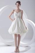 Modisches A-Linie Empire Knielanges Brautkleider aus Taft