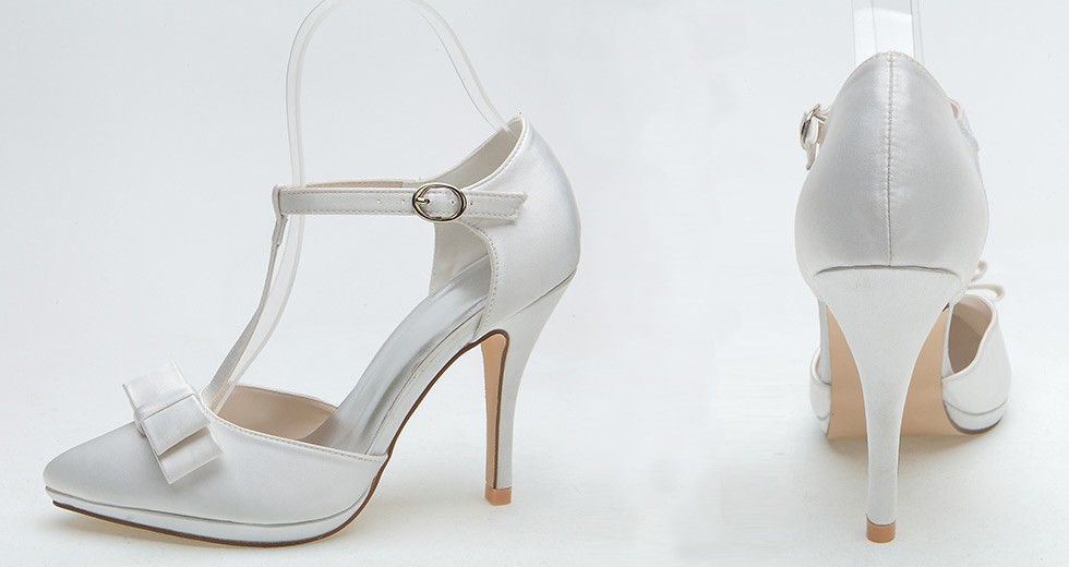 sandales pour mariage orné de noeud papillon