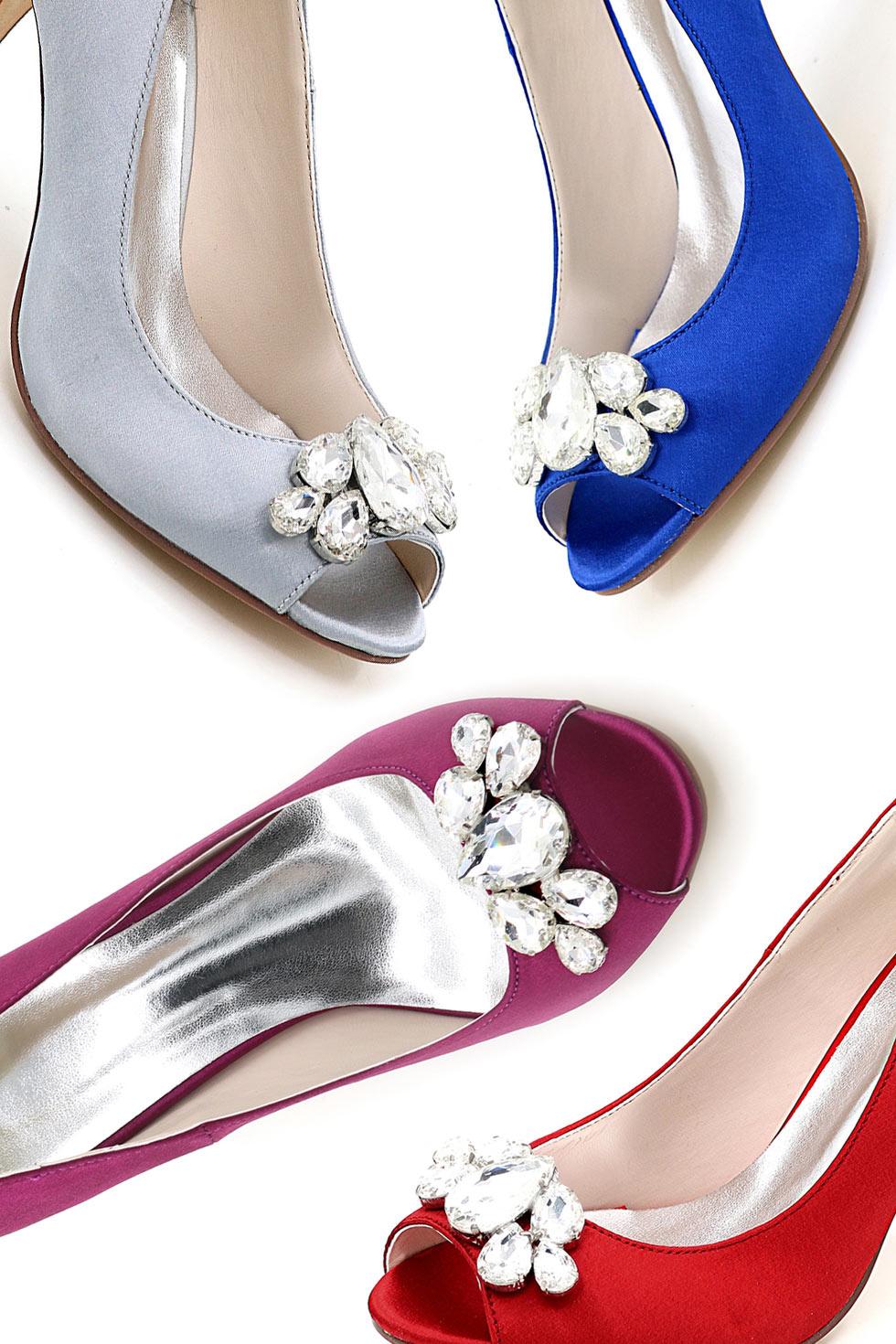 sandales élégantes pour mariage dessus strass bout ouvert