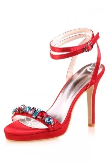 Dressesmall Elegant high heels  crystal red scandals