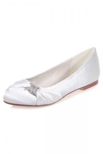 Elegante Satin flache Schuhe mit Paillette verziert Persun
