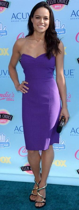 Robe bustier violette star pour cocktail de mariage