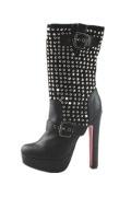 Moderne Schwarze mit roter sohle Schlupfschuh High Heal Stiletto Stiefel