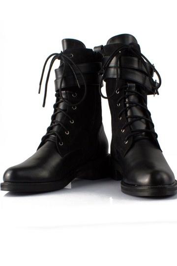 schwarze schn rung halbschaftstiefel blockabsatz damen stiefel 754 schuhe online kaufen. Black Bedroom Furniture Sets. Home Design Ideas