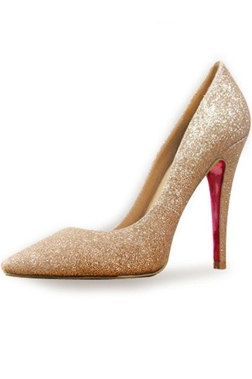 Leather Pigalle Pumps Golden