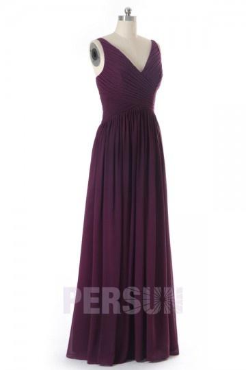 Solde robe de soirée prune taille 32