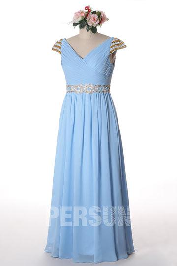 Soldes robe de soirée azure claire Taille 42