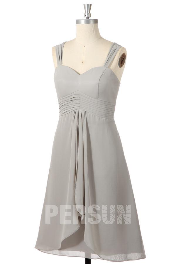 Solde robe de cocktail grise argentée taille 34