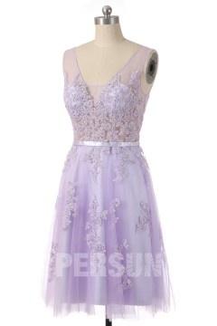Soldes robe de soirée lavande taille 36