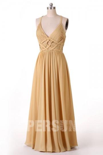 Soldes robe de soirée dorée taille 42