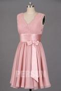 Solde robe de soirée courte vieux rose taille 38