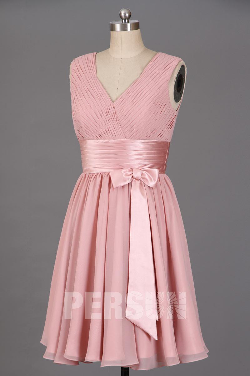 Soldes robe de soirée courte vieux rose taille 38