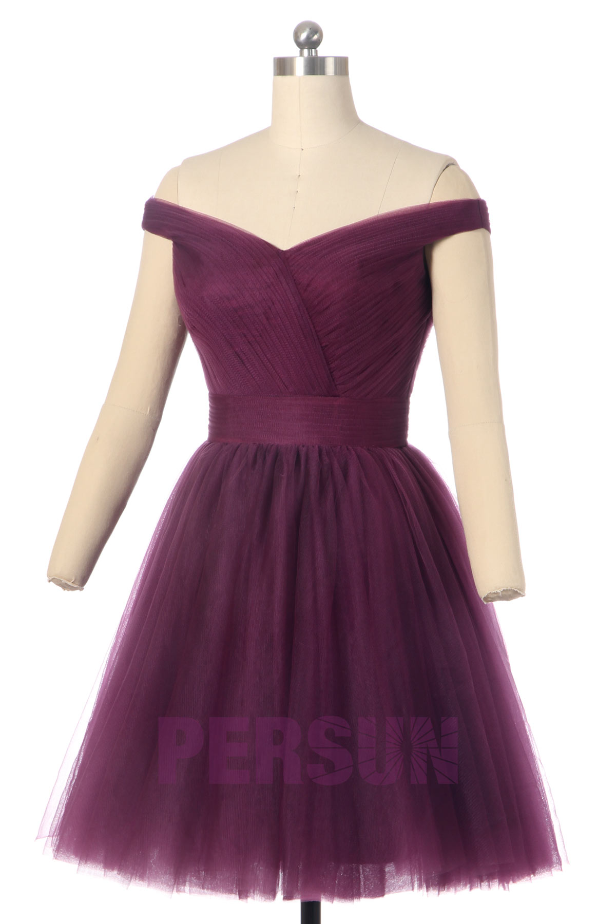 Soldes robe de cocktail prune taille 32