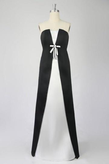 Soldes robe de soirée blanche & noire taille 40