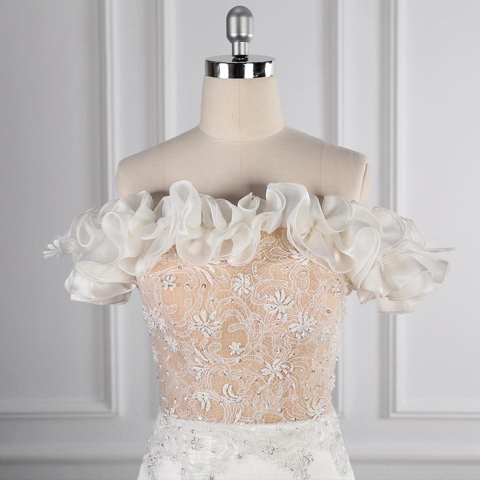 robe de mariée bicolore haut couleur chair