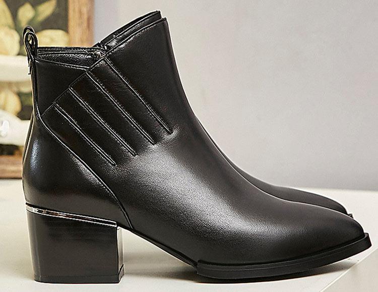 boots femme noir pas cher hiver bout pointu nouveauté
