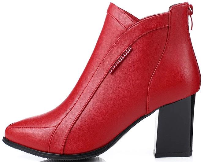 bottines femme rouges pas cher pour hiver 2019