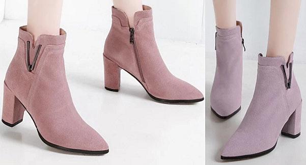 low boots pas cher en hiver automne 2019 boutique en ligne bottine rose parme en tendance