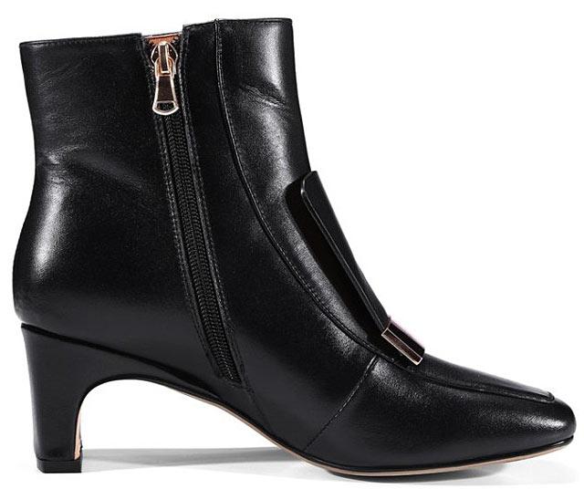 bottine femme noire bout carré talon mi-haut chaussure livraison rapide