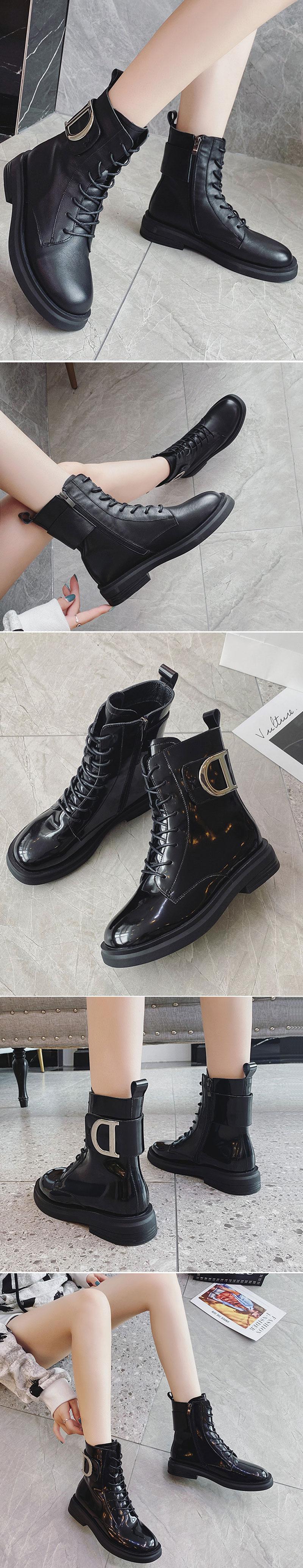 bottine noir cuir pas cher