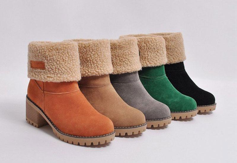 boots femme chaude pas cher pour hiver